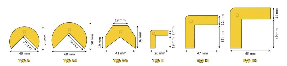 Profile elastyczne - ochrona naroznikow