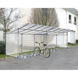 Wiata rowerowa dł. 9,5 m (20 stanowisk)