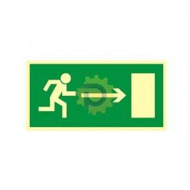 Kierunek do wyjścia drogi ewakuacyjnej w prawo