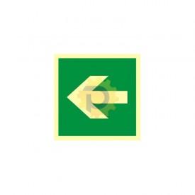 Kierunek drogi ewakuacyjnej w lewo