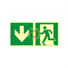 Kierunek do wyjścia ewakuacyjnego – w dół (lewostronny)