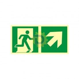 Kierunek do wyjścia ewakuacyjnego – w górę w prawo