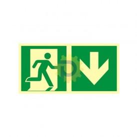 Kierunek do wyjścia ewakuacyjnego – w dół (prawostronny)