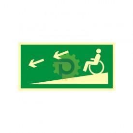 Zjazd ewakuacyjny na niższą kondygnację dla niepełnosprawnych w lewo