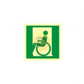 Drzwi ewakuacyjne dla niepełnosprawnych w lewo