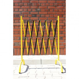 Bariera harmonijkowa żółto-czarna