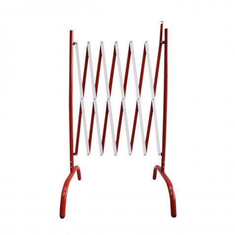 Bariera harmonijkowa biało-czerwona