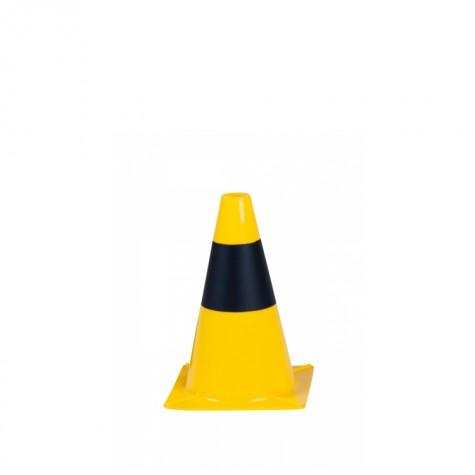 Pachołek drogowy żółto-czarny 30 cm