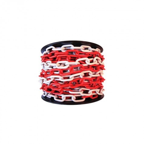 Łańcuch plastikowy biało-czerwony