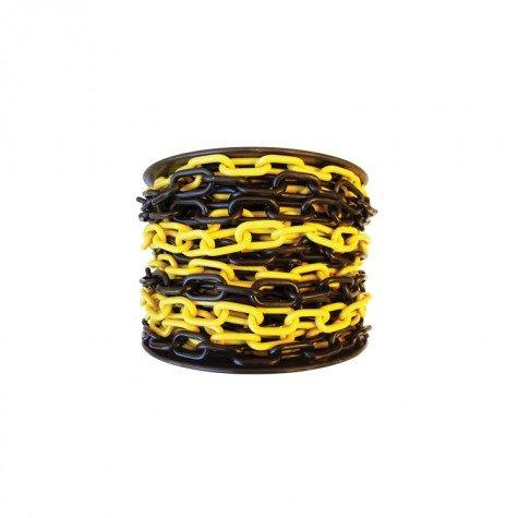 Łańcuch plastikowy żółto-czarny