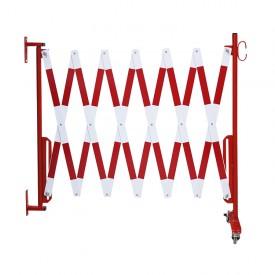 Bariera harmonijkowa mocowana do ściany