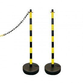 Słupek plastikowy żółto-czarny wys. 110 cm SCV (podstawa do wypełnienia)
