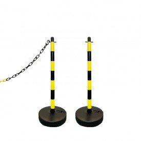 Słupek plastikowy żółto-czarny wys. 90 cm SCV (podstawa do wypełnienia)