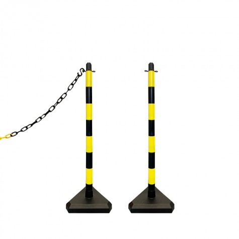 Słupek plastikowy żółto-czarny wys. 90 cm SCV (podstawa betonowa)