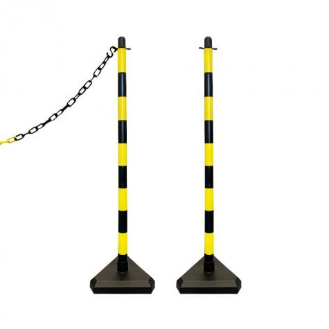 Słupek plastikowy żółto-czarny wys. 110 cm SCV (podstawa betonowa)