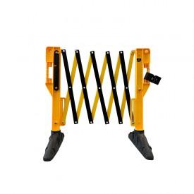 Bariera nożycowa żółto-czarna rozciągana do 3,1 m