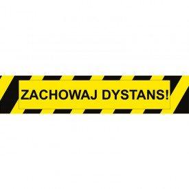 Taśma/znacznik podłogowy ZACHOWAJ DYSTANS!