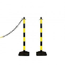 Słupek plastikowy żółto-czarny wys. 90 cm SCV (podstawa gumowa)