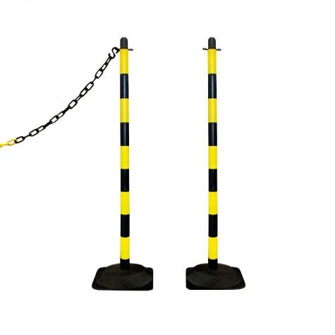 Słupek plastikowy żółto-czarny wys. 110 cm SCV (podstawa gumowa)