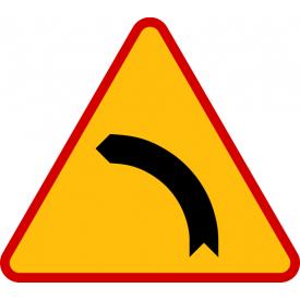 A-2 Niebezpieczny zakręt w lewo - znak ostrzegawczy