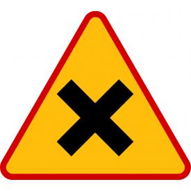 A-5 skrzyżowanie dróg - znak ostrzegawczy