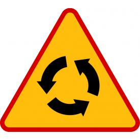 A-8 Skrzyżowanie o ruchu okrężnym - znak drogowy ostrzegawczy