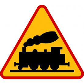 A-10 Przejazd kolejowy bez zapór - znak drogowy ostrzegawczy