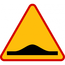 A-11a Próg zwalniający - znak drogowy ostrzegawczy