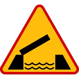 A-13 Ruchomy most - znak drogowy ostrzegawczy