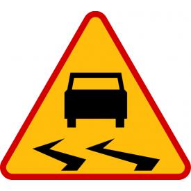 A-15 Śliska jezdnia - znak drogowy ostrzegawczy