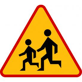 A-17 Dzieci - znak drogowy ostrzegawczy