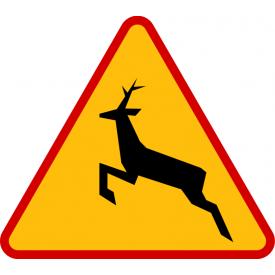 A-18b Zwierzęta dzikie - znak drogowy ostrzegawczy