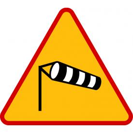 A-19 Boczny wiatr - znak drogowy ostrzegawczy