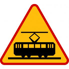 A-21 Tramwaj - znak drogowy ostrzegawczy