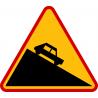 A-22 Niebezpieczny zjazd - znak drogowy ostrzegawczy