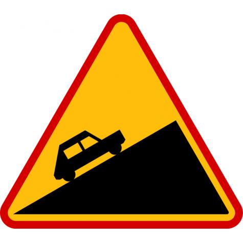 A-23 Niebezpieczny podjazd - znak drogowy ostrzegawczy