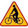 A-24 Rowerzyści - znak drogowy ostrzegawczy