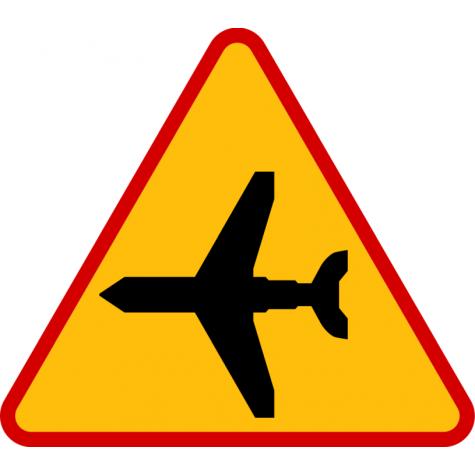 A-26 Lotnisko - znak drogowy ostrzegawczy