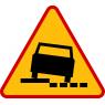 A-31 Niebezpieczne pobocze - znak drogowy ostrzegawczy