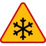 A-32 Oszronienie jezdni - znak drogowy ostrzegawczy