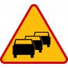 A-33 Zator drogowy - znak drogowy ostrzegawczy