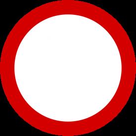 B-1 Zakaz ruchu w obu kierunkach - znak drogowy zakazu
