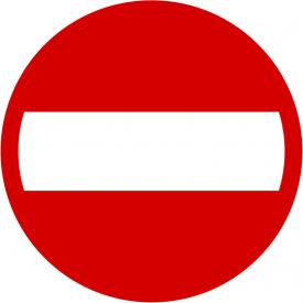 B-2 Zakaz wjazdu - znak drogowy zakazu