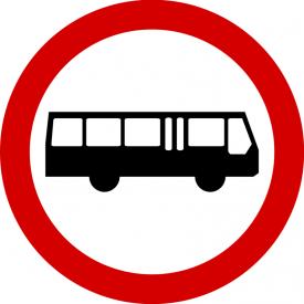 B-3a Zakaz wjazdu autobusów - znak drogowy zakazu