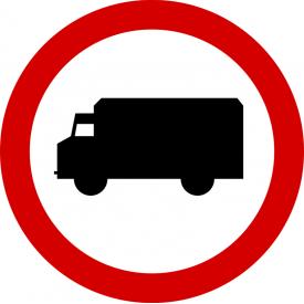 B-5 Zakaz wjazdu samochodów ciężarowych - znak drogowy zakazu