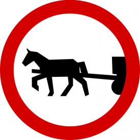 B-8 Zakaz wjazdu pojazdów zaprzęgowych - znak drogowy zakazu