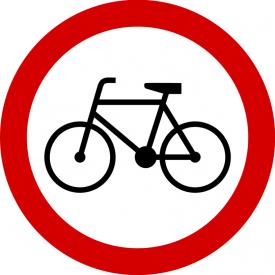 B-9 Zakaz wjazdu rowerów - znak drogowy zakazu
