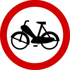 B-10 Zakaz wjazdu motorowerów - znak drogowy zakazu
