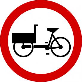 B-11 Zakaz wjazdu wózków rowerowych - znak drogowy zakazu