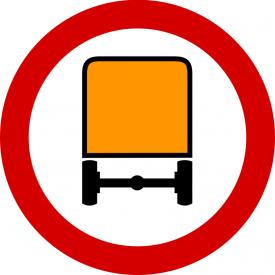 B-13a Zakaz wjazdu pojazdów z towarami niebezpiecznymi - znak drogowy zakazu
